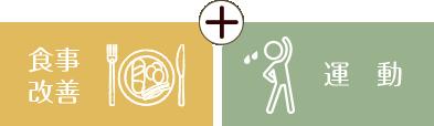 食事改善と適度な運動